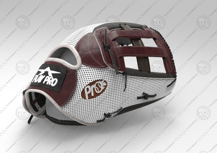 Gant de baseball royalty-free 3d model - Preview no. 1