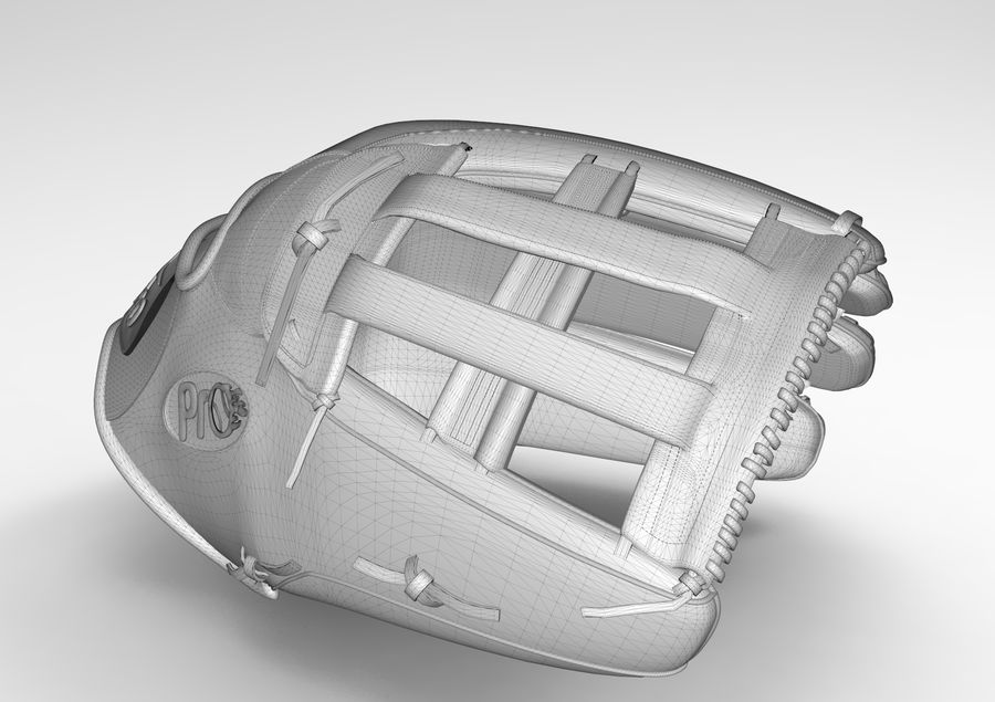 Gant de baseball royalty-free 3d model - Preview no. 3