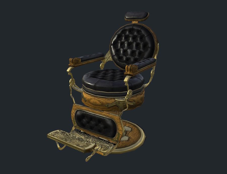 理发椅 royalty-free 3d model - Preview no. 2