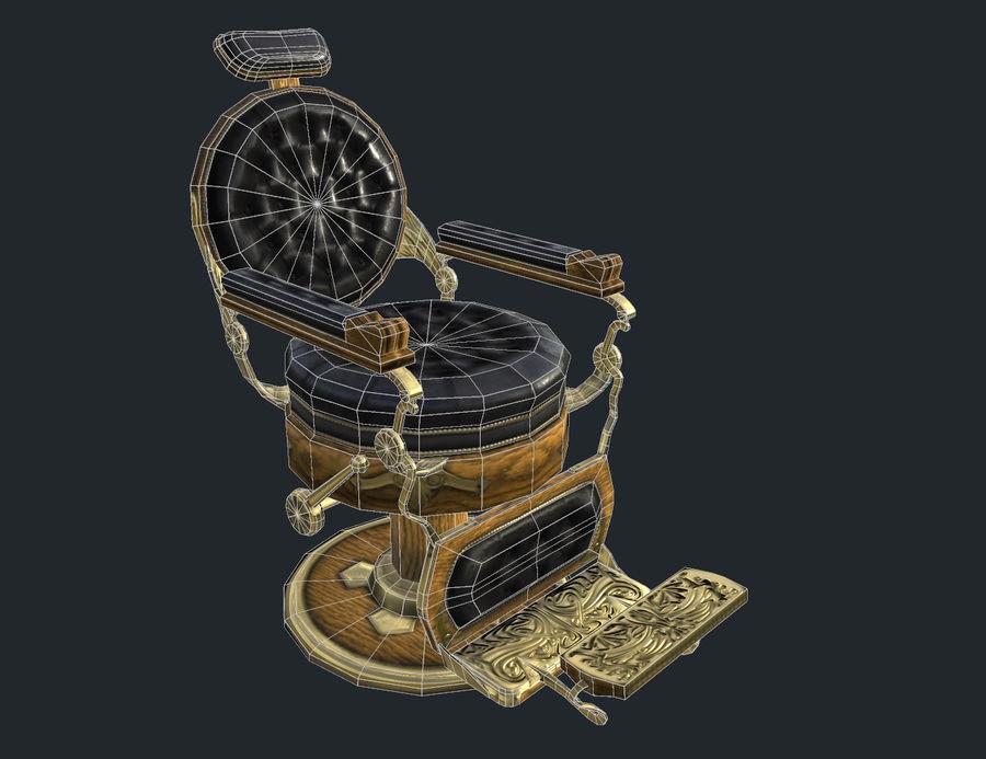 理发椅 royalty-free 3d model - Preview no. 1
