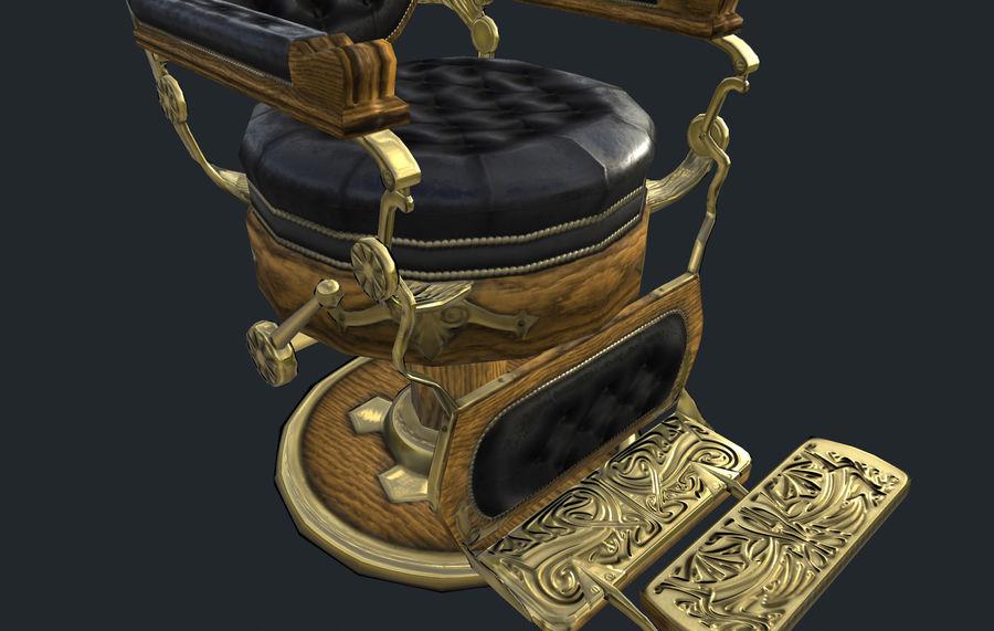 理发椅 royalty-free 3d model - Preview no. 4