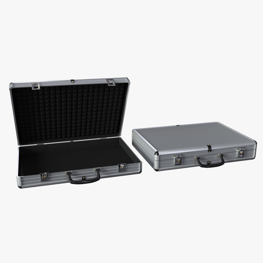 Two Briefcases royalty-free 3d model - Preview no. 1