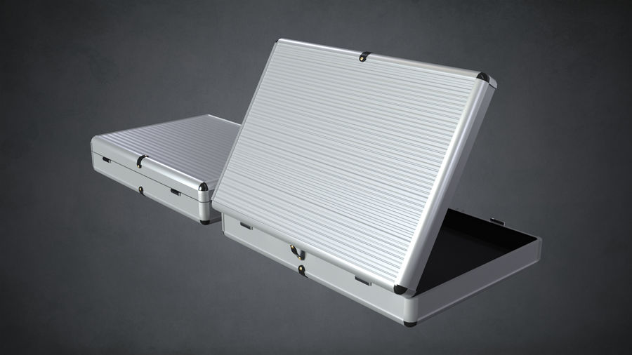 Two Briefcases royalty-free 3d model - Preview no. 5