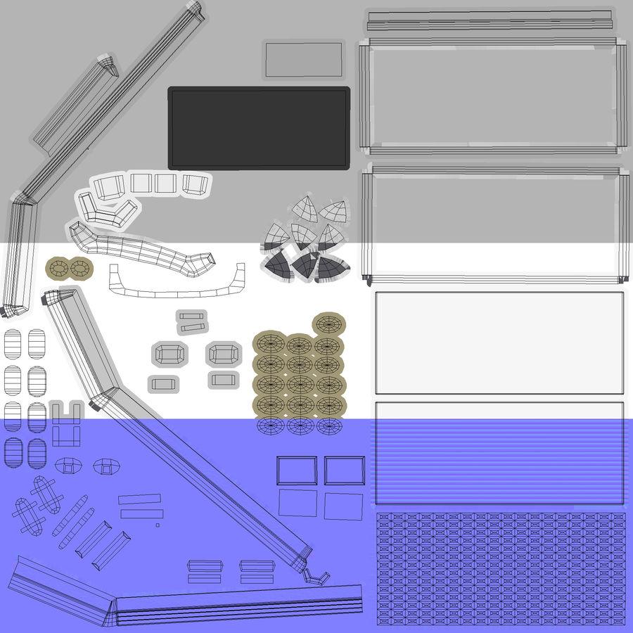 2つのブリーフケース royalty-free 3d model - Preview no. 13