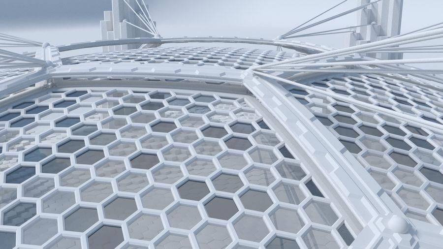 Scène de la science fiction en forme hexagonale royalty-free 3d model - Preview no. 4