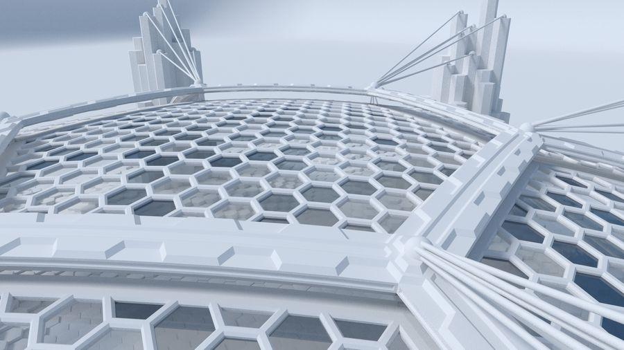 Scène de la science fiction en forme hexagonale royalty-free 3d model - Preview no. 7