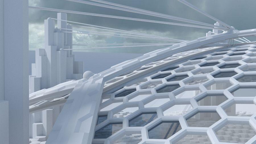 Scène de la science fiction en forme hexagonale royalty-free 3d model - Preview no. 5