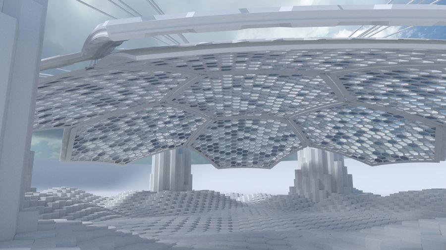 Scène de la science fiction en forme hexagonale royalty-free 3d model - Preview no. 6