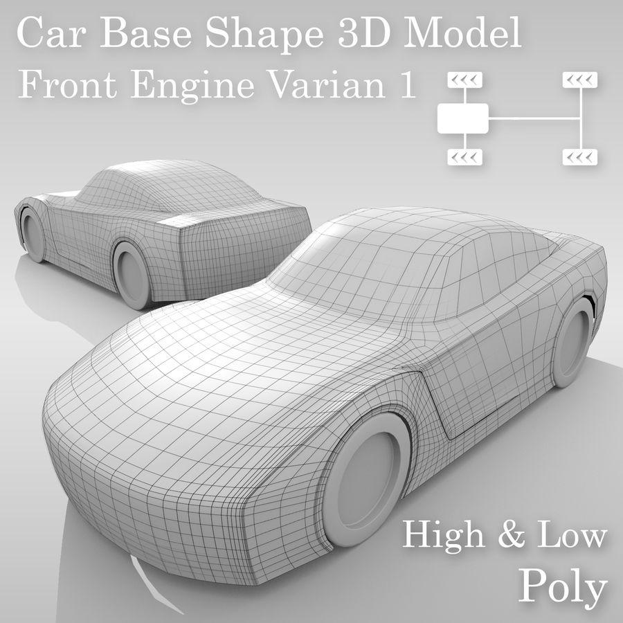 Car Base FR Layout Variant 1 royalty-free 3d model - Preview no. 1