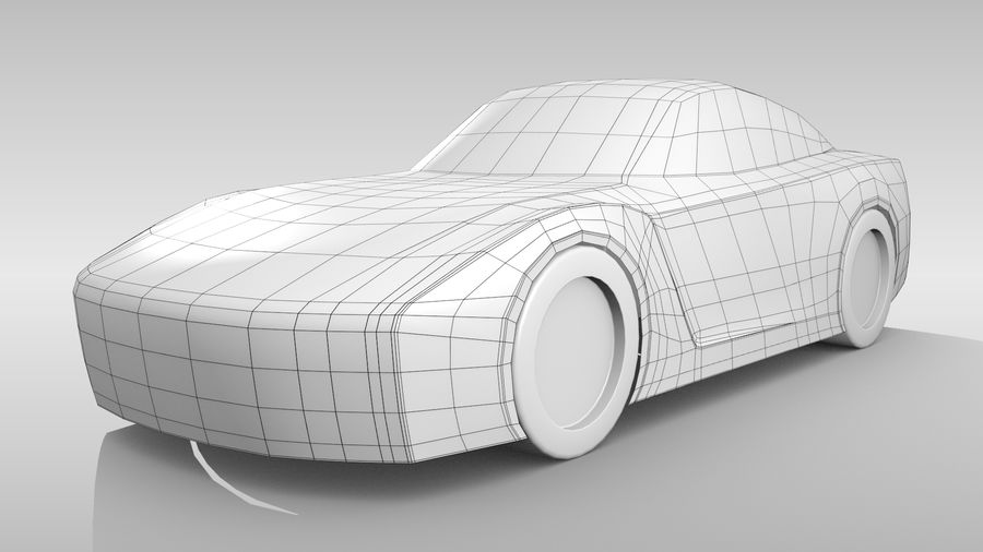 Car Base FR Layout Variant 1 royalty-free 3d model - Preview no. 3