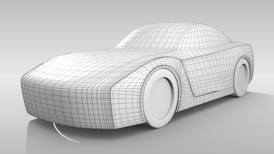 Car Base FR Layout Variant 1 royalty-free 3d model - Preview no. 2