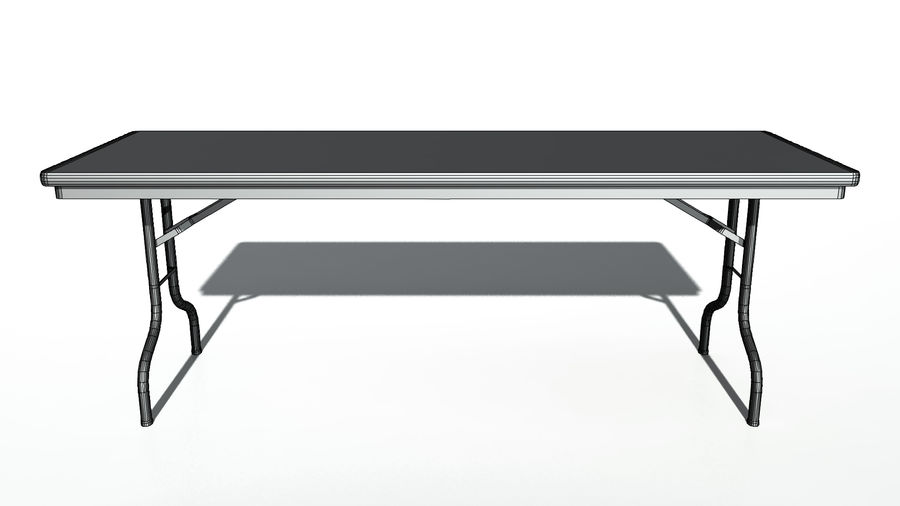 Folding Table royalty-free 3d model - Preview no. 11