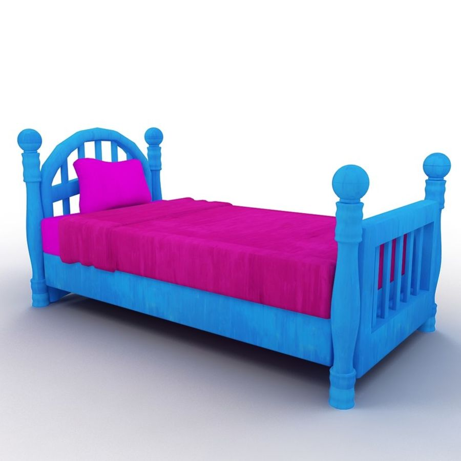 Cartoon bed royalty-free 3d model - Preview no. 1