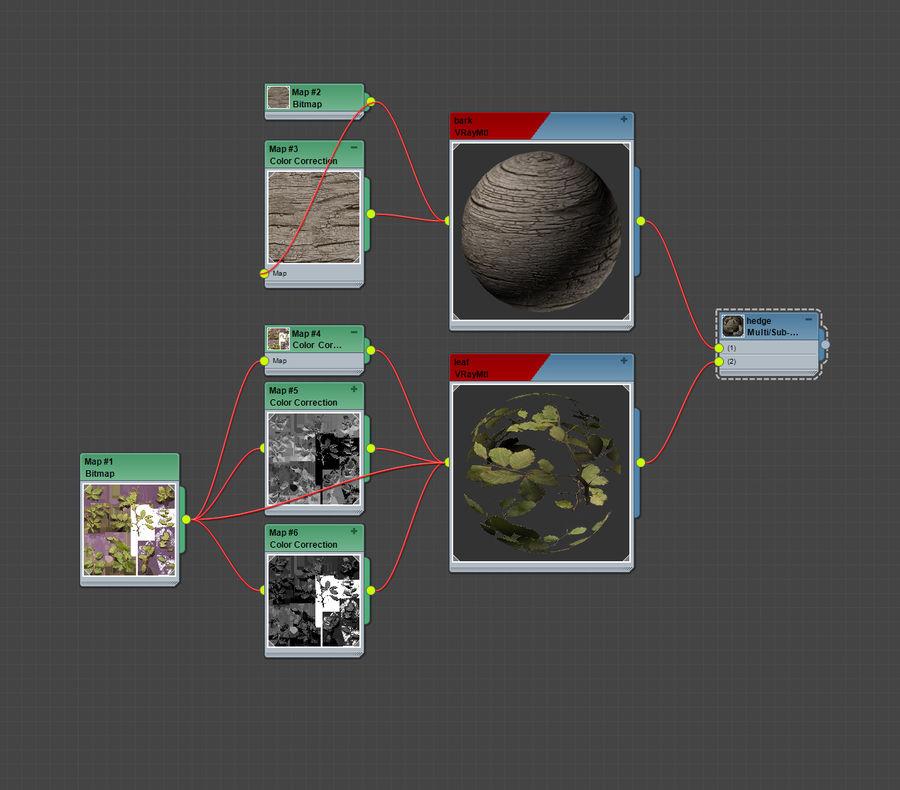 coleção de plantas de sebe royalty-free 3d model - Preview no. 5