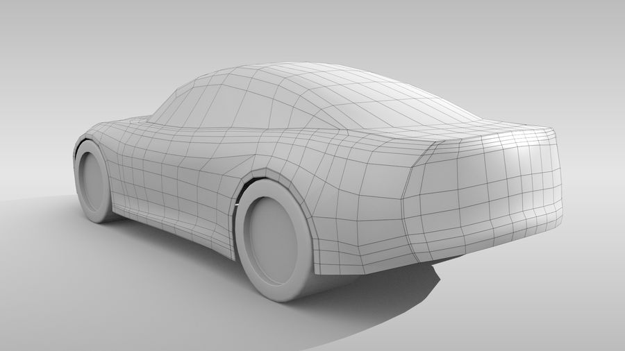 Car Base FR Layout Variant 3 royalty-free 3d model - Preview no. 6
