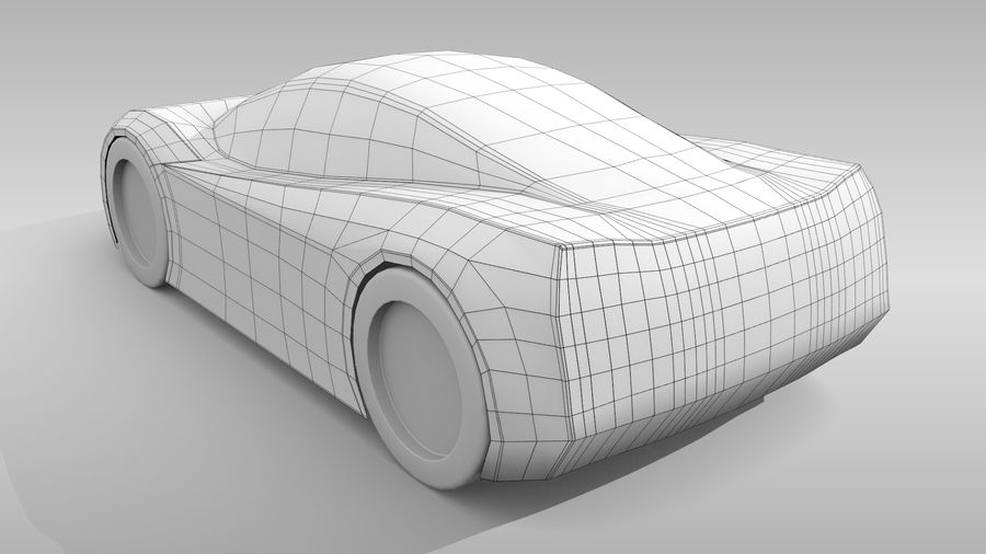 Araba Tabanı MR Düzeni Varyant 2 royalty-free 3d model - Preview no. 6