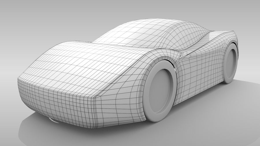Araba Tabanı MR Düzeni Varyant 2 royalty-free 3d model - Preview no. 2