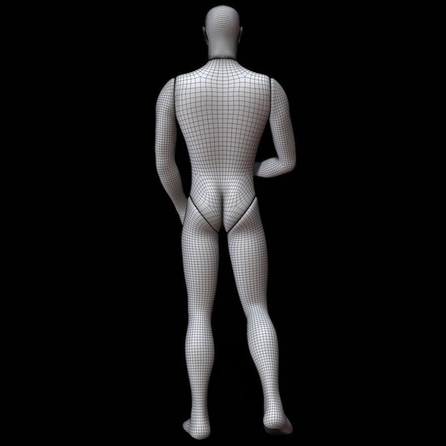 Mannequin man royalty-free 3d model - Preview no. 16