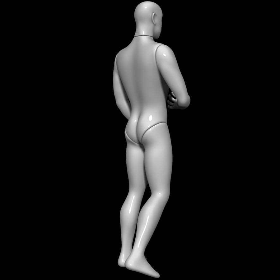 Mannequin man royalty-free 3d model - Preview no. 4