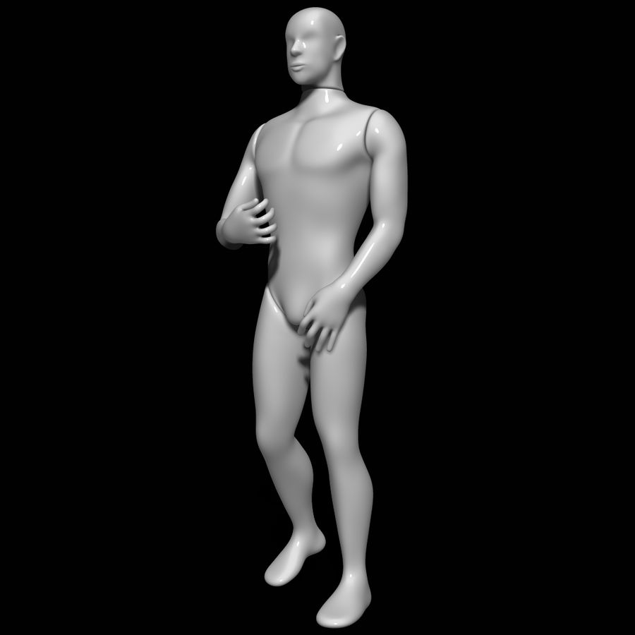 Mannequin man royalty-free 3d model - Preview no. 8