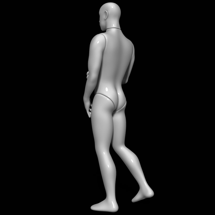 Mannequin man royalty-free 3d model - Preview no. 6