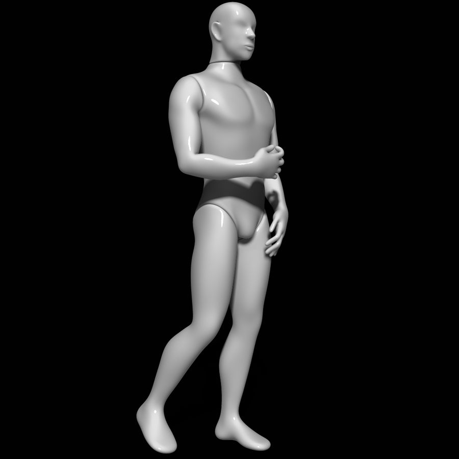 Mannequin man royalty-free 3d model - Preview no. 2