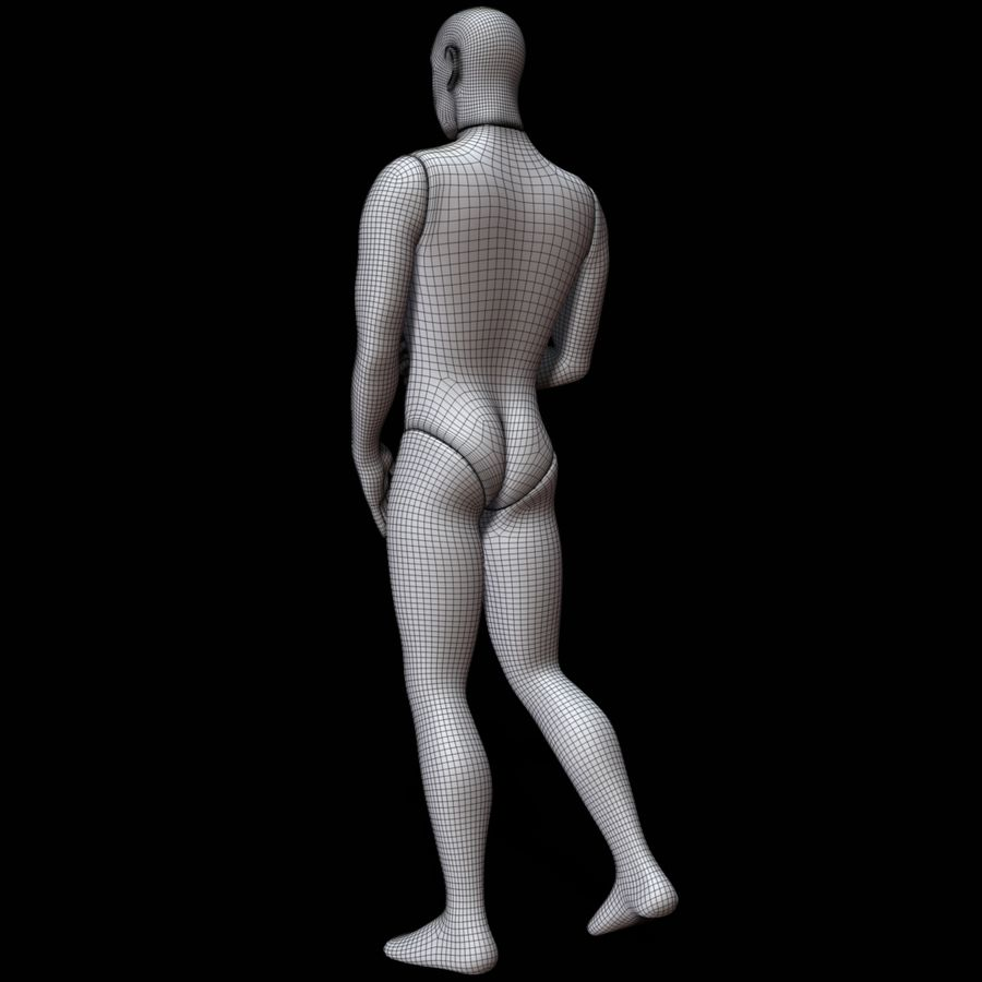 Mannequin man royalty-free 3d model - Preview no. 17