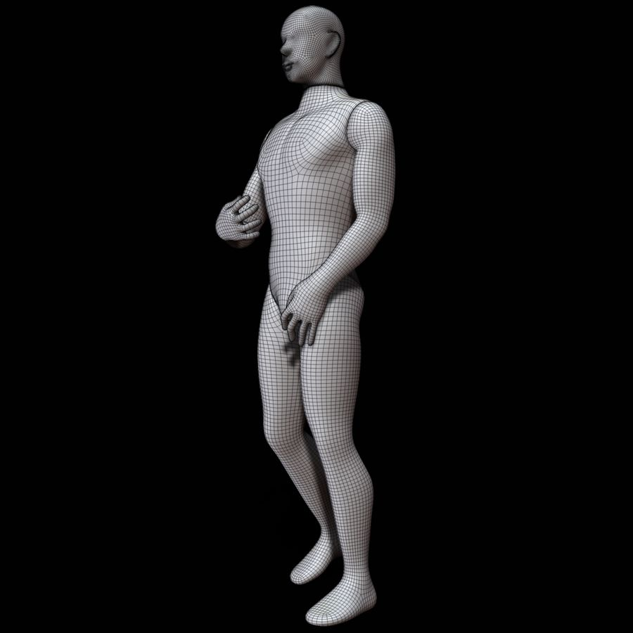 Mannequin man royalty-free 3d model - Preview no. 19
