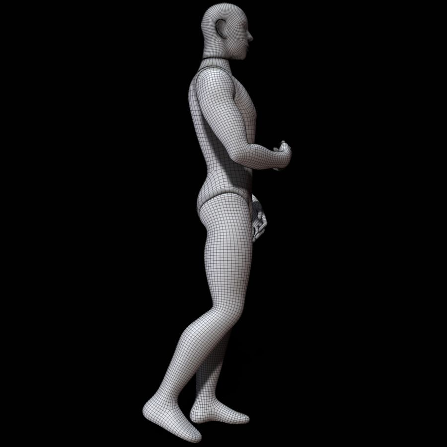 Mannequin man royalty-free 3d model - Preview no. 14