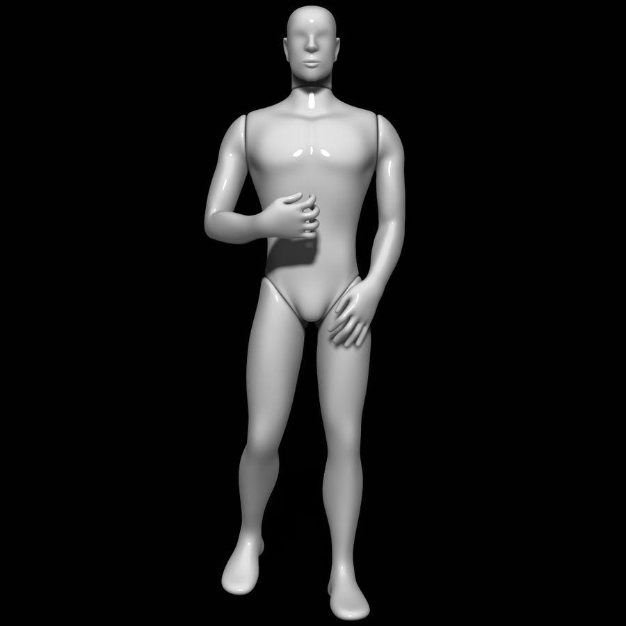 Mannequin man royalty-free 3d model - Preview no. 1