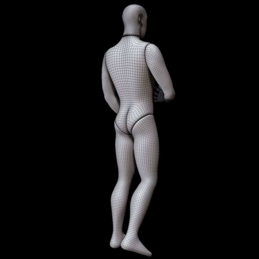 Mannequin man royalty-free 3d model - Preview no. 15