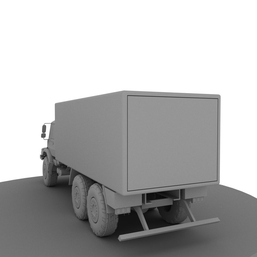 Merecedes ZETROS 6x6 royalty-free 3d model - Preview no. 3