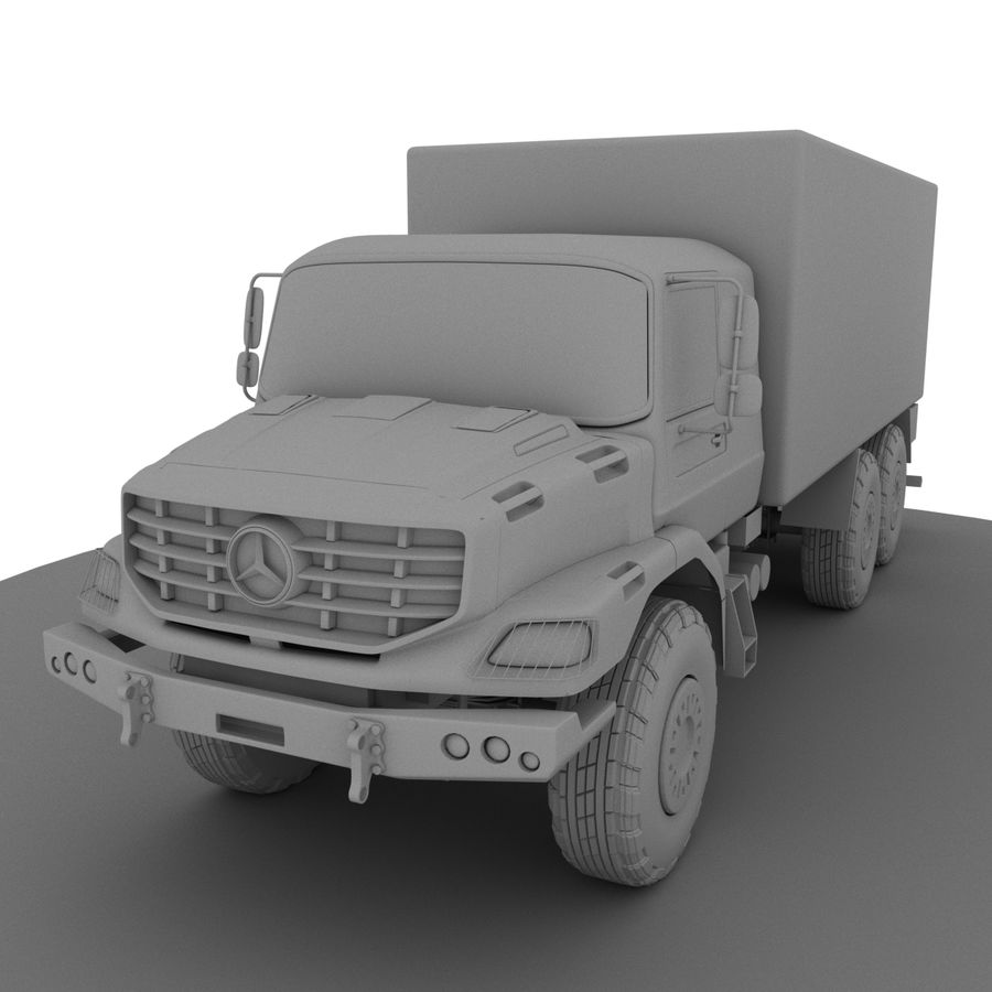 Merecedes ZETROS 6x6 royalty-free 3d model - Preview no. 2