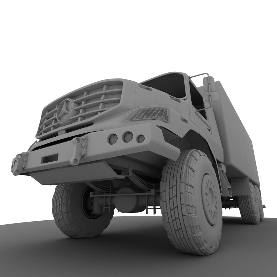 Merecedes ZETROS 6x6 royalty-free 3d model - Preview no. 4