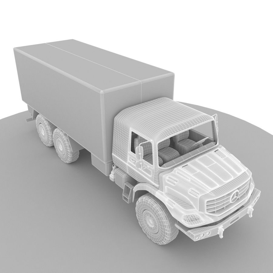 Merecedes ZETROS 6x6 royalty-free 3d model - Preview no. 12