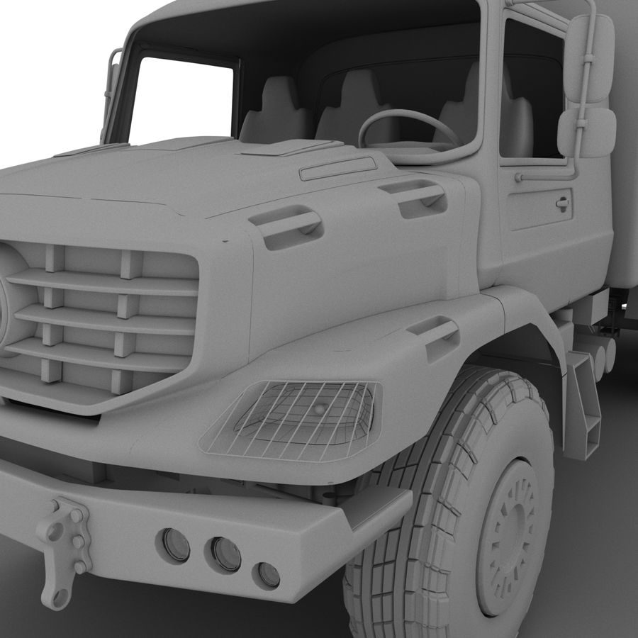 Merecedes ZETROS 6x6 royalty-free 3d model - Preview no. 1