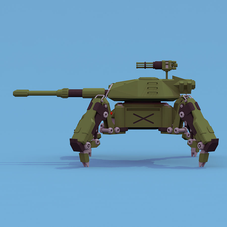 Spider Tank royalty-free 3d model - Preview no. 8