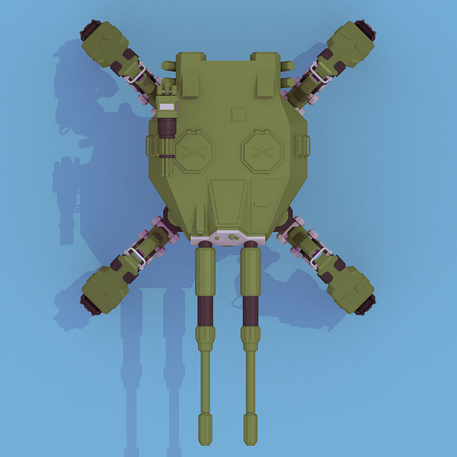 Spider Tank royalty-free 3d model - Preview no. 5