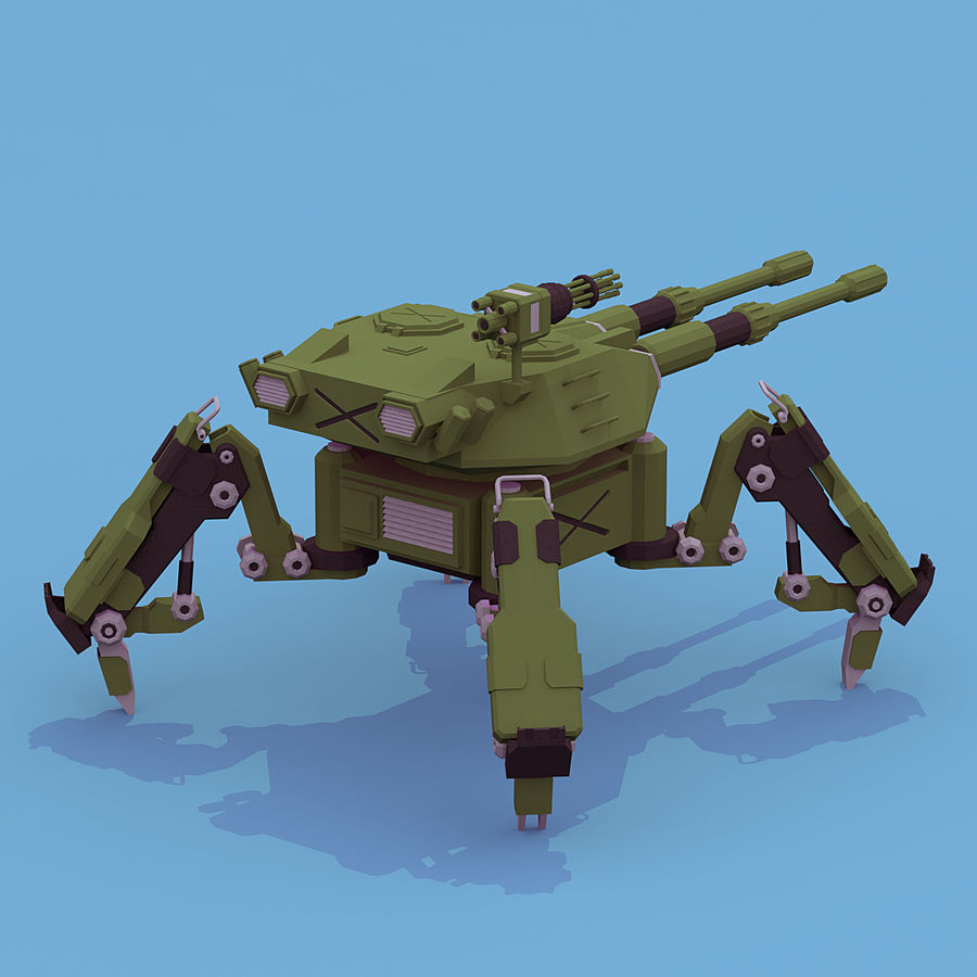 Spider Tank royalty-free 3d model - Preview no. 2