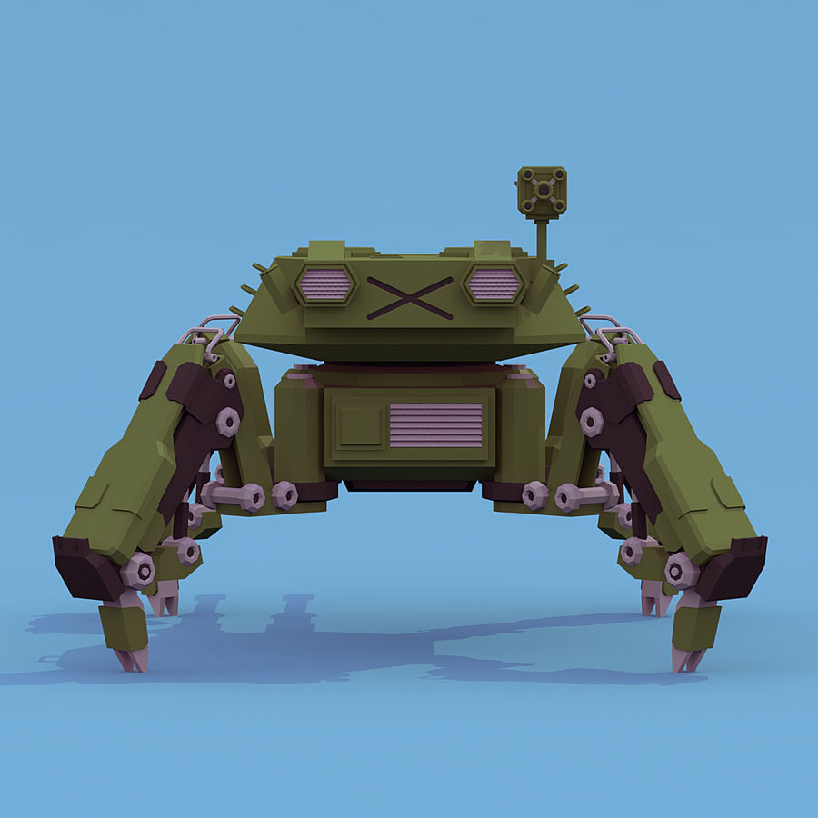 Spider Tank royalty-free 3d model - Preview no. 7