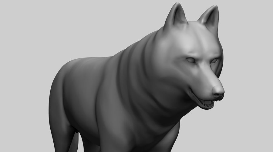 Wolf Base Mesh royalty-free 3d model - Preview no. 2