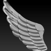 翅膀 3d model