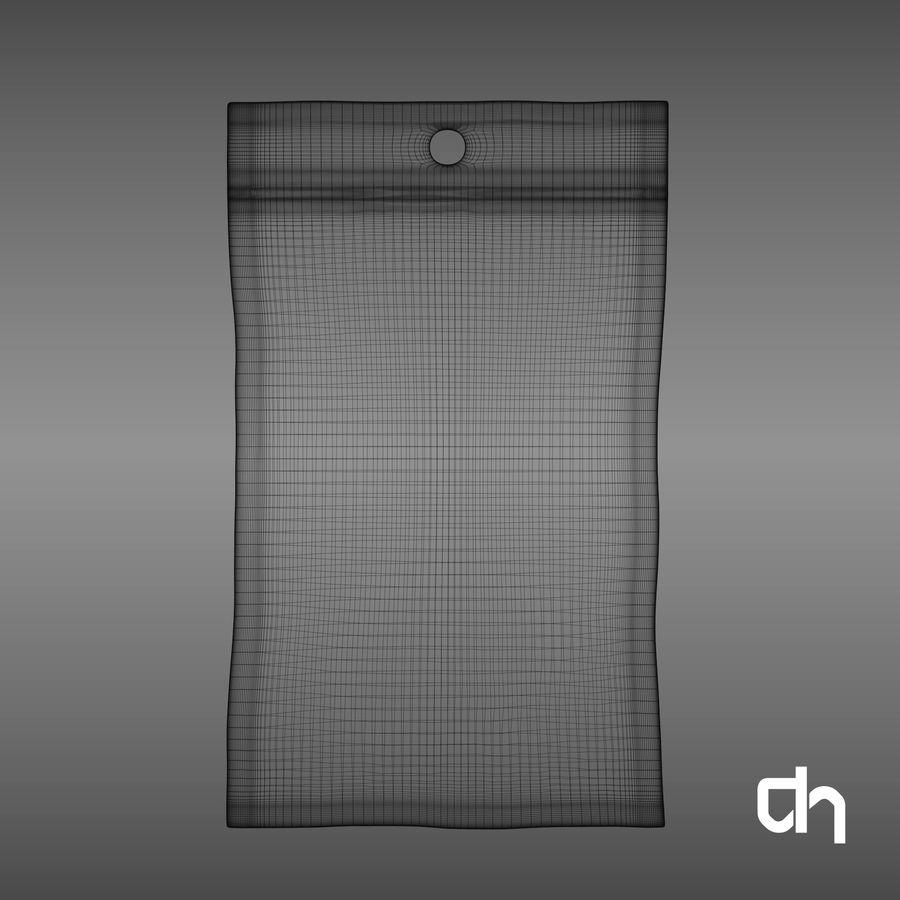 Saquinho 12x7,3cm royalty-free 3d model - Preview no. 6
