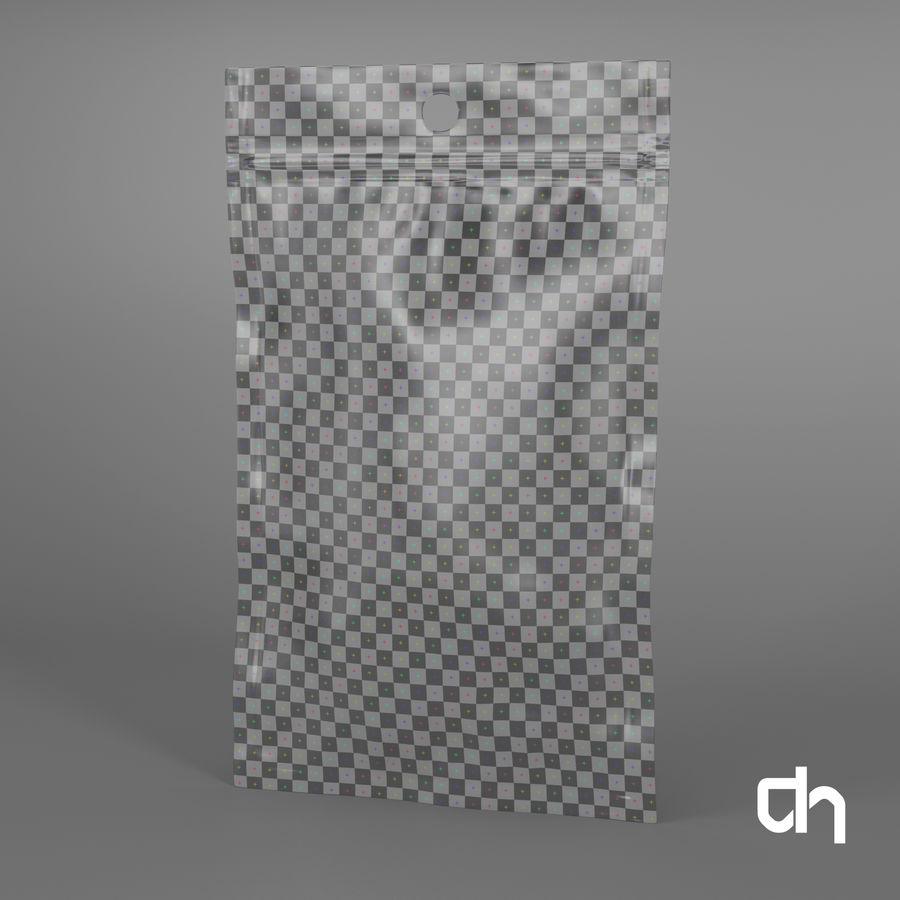 Saquinho 12x7,3cm royalty-free 3d model - Preview no. 4