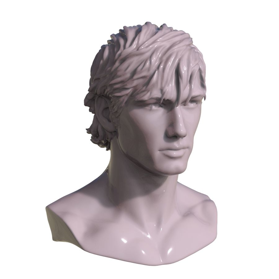 Decimated Alex Pettyfer royalty-free 3d model - Preview no. 3