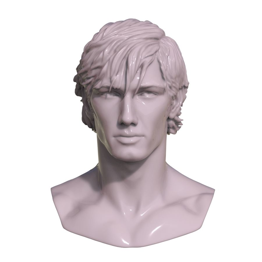 Decimated Alex Pettyfer royalty-free 3d model - Preview no. 2