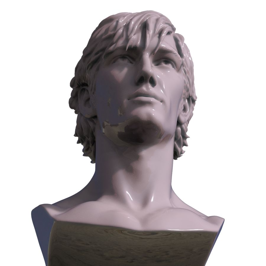 Decimated Alex Pettyfer royalty-free 3d model - Preview no. 8