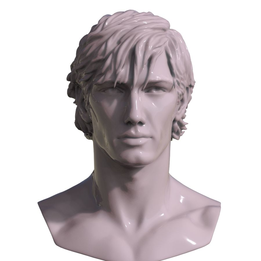 Decimated Alex Pettyfer royalty-free 3d model - Preview no. 1