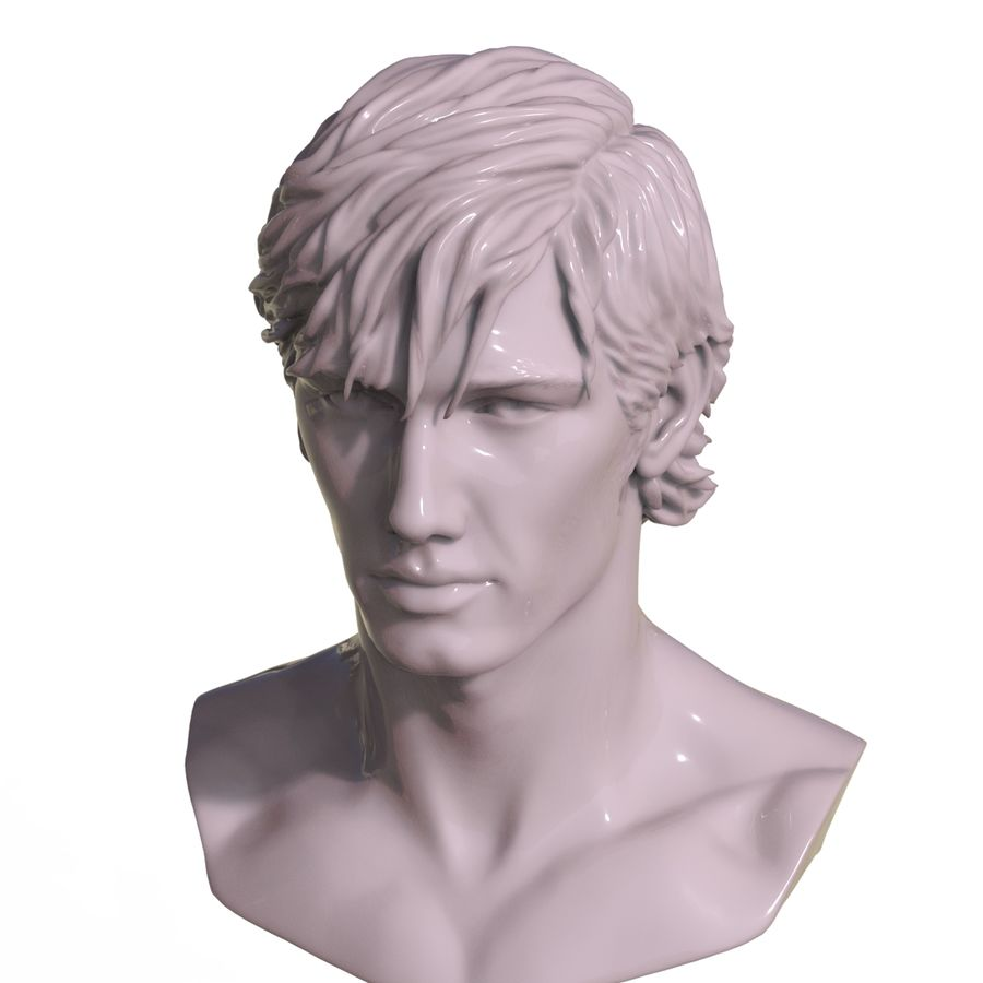 Decimated Alex Pettyfer royalty-free 3d model - Preview no. 7