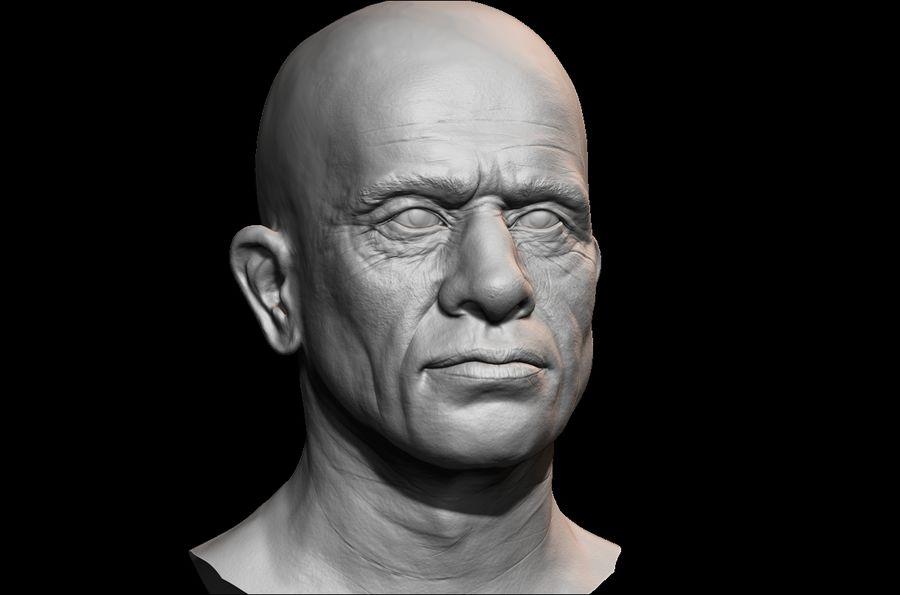 Высоко детализированное среднее мужское лицо с ультрафиолетом и низким поли royalty-free 3d model - Preview no. 2